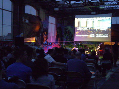 A night of Dark Toons, under the stars at Rooftop Films