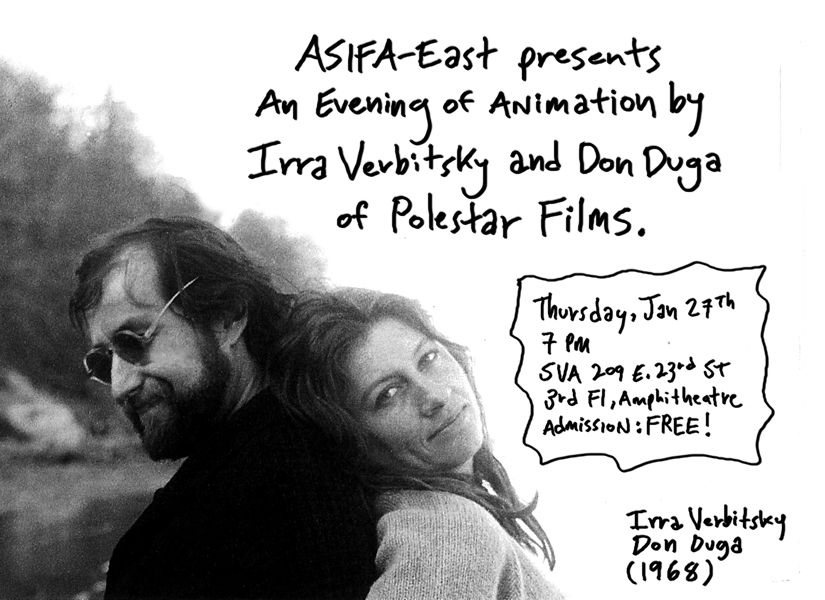 ASIFA-East presents an evening of animation by Irra Verbitsky and Don Duga of Polestar Films!