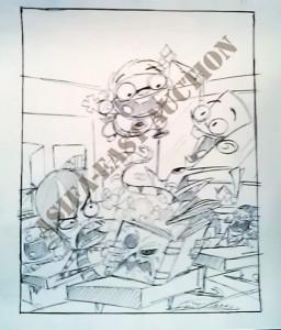 ASIFA-East Animation Art Auction Teaser! Signed Fanboy & Chum Chum toys and original art!