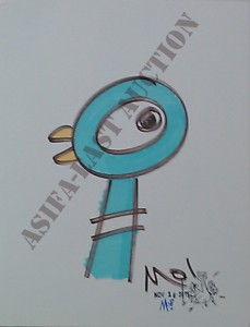 ASIFA-East Animation Art Auction Teaser! Signed Mo Willems Pigeon DVD and original art!