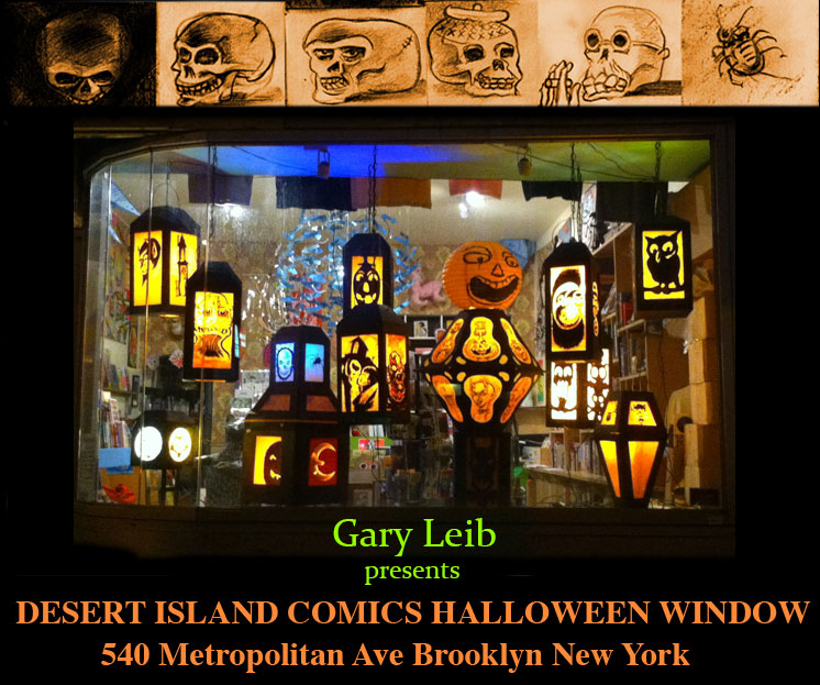 Happy Halloween: Presenting Desert Island Halloween Window