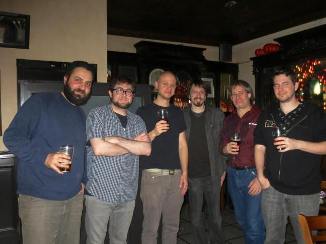 L to R: Jamil Lahham, Emmett Goodman, John Lustig, Stephen Seus, Robert Lyons, unknown.