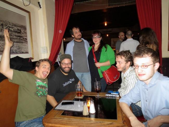 L to R: Stephen Brooks, Rob Yulfo, Adam Ansorge and friend, Tristian Goik, Jacob Kafka