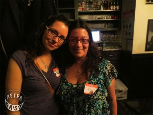 Linda Beck and Dayna Gonzalez, the co-presidents of ASIFA-East