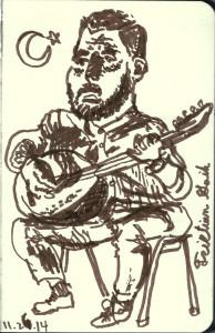 Bağlama musician on Turkish Night