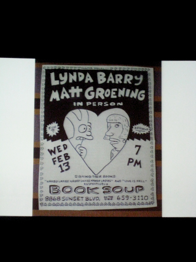 Matt Groening and Lynda Barry at BAM: Love, Hate and Comics – The Friendship that Would not Die