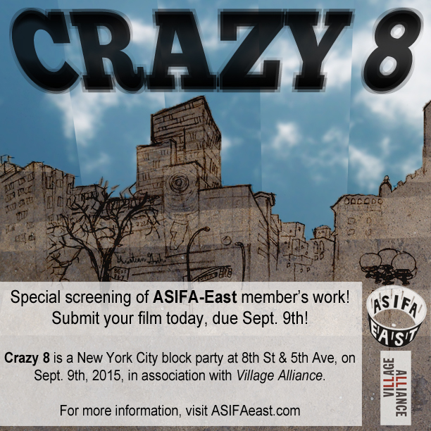 CRAZY 8*2: Animation Screening: Submit your Films!