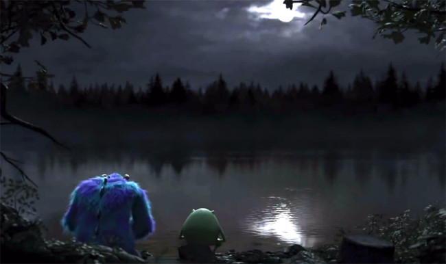 Mike and Sully in the Human World [photo source http://pixarplanet.com]