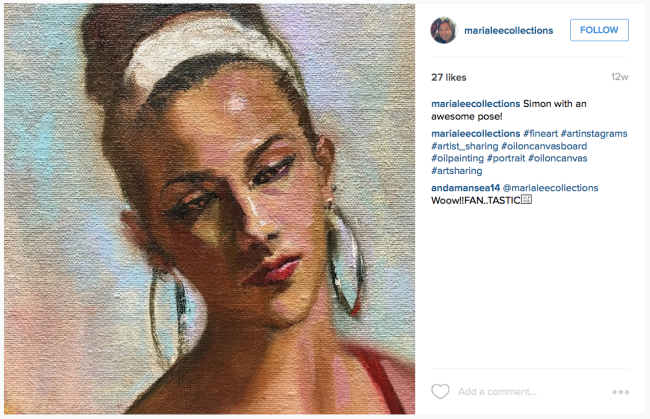 Oil Painting by Maria Lee [photo credit: https://instagram.com/marialeecollections/]